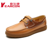 YEARCON/Kang authentic men's genuine leather men's casual leather shoes laced beef men's shoes at the end of the tide