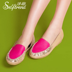 Interest-related collision Sheepskin fashion comfort and low shoes T01017