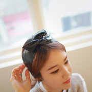 Package mail Europe and Korea hair accessories Korean leather headband wide variety of rabbit ears bow led hoop
