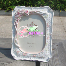 6寸7寸10寸韩国田园id8瑰钻石相am照创意相架 欧款结婚礼品