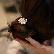 B034 a good jewelry Korea headdresses of roses ball head band hair metal ring rope