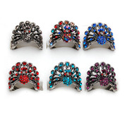Smiling new Korean version original rhinestone Peacock ring ring ring jewelry fashion jewelry women 357929