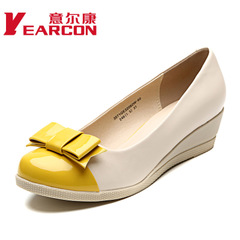 ER Kang authentic women's shoes new 2014 shallow mouth with sweet bow wedges candy women's shoes
