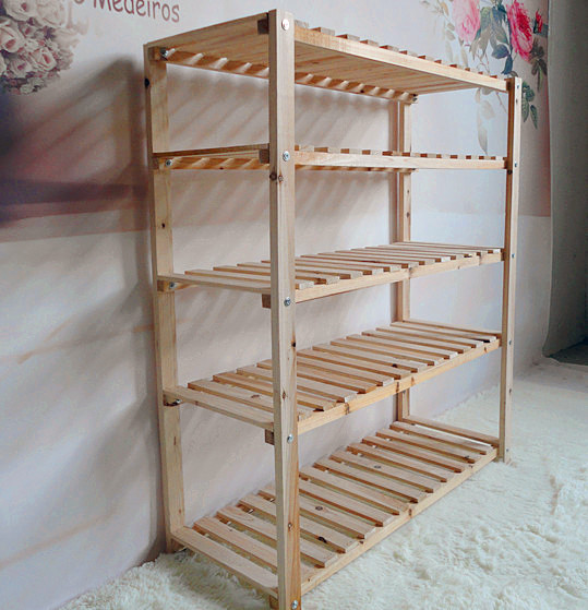 Фото деревянных полок для обуви