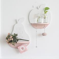 米子家居欧式客厅墙壁背景装饰挂件 创意卧室墙饰壁挂收纳搁板