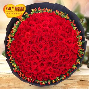 99朵红玫瑰花束生日鲜花速递北京上海广州深圳成都杭州西安同城送
