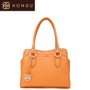 Honggu red Valley, new counter genuine embossed leather shoulder women's fashion in Europe and America for 1051
