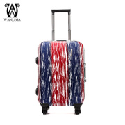 Wanlima/million 2015 new fashion trolley universal wheel 20-inch locks fashion luggage