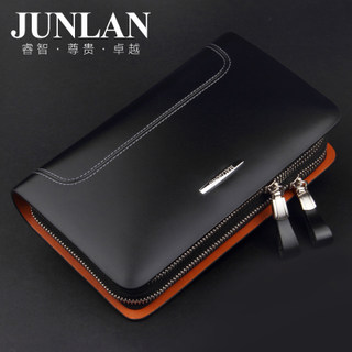 LAN genuine 2015 new men's bags, JUNLAN June male Korean version of leather hand bag large capacity clutch