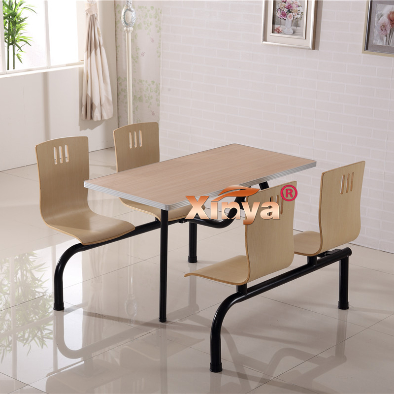 鑫馫雅肯德基快餐桌椅 连体 食堂餐桌椅组合 小吃店餐桌椅 特价
