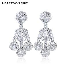 「HOF」Hearts On Fire 新品白色18K金20分钻石耳坠UU 112