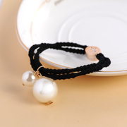 Know Connie hair accessories Korean Pearl beaded hair accessories ponytail hair rope ring Korea hair band rope