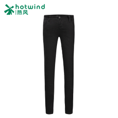 Hot female solid color jeans pencil pants slim slim casual long pants feet pants 06H5704