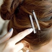 Know Richie fashion double drain clamp Korea hair clip bangs clip female head ornaments clip Barrette card