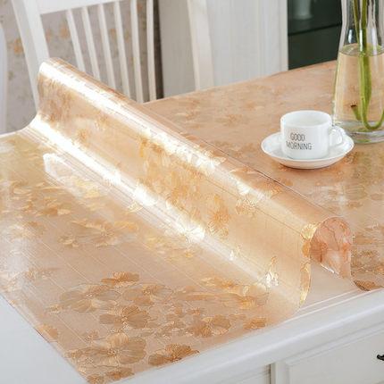 多沃PVC餐桌布防水软质玻璃塑料台布餐桌垫免洗茶几垫磨砂水晶板