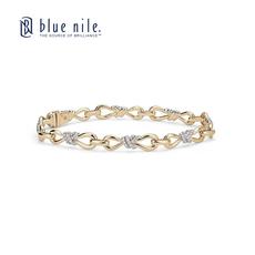 Blue Nile Colin Cowie 钻石无限手链14k金78分进口美国直邮进口