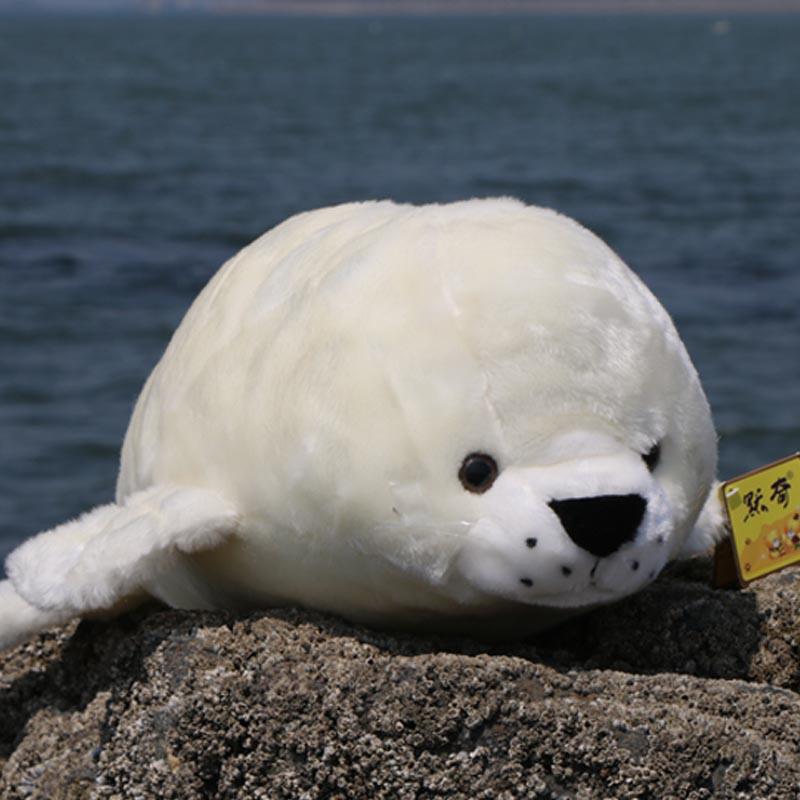 默奇毛绒玩具仿真海豹公仔可爱布娃娃大号海洋极地馆玩偶生日礼物