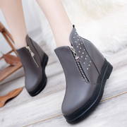 Europe 2015 Ji Po increased with thick-soled boots for fall/winter nude platform shoes high heel women boots shoes wave