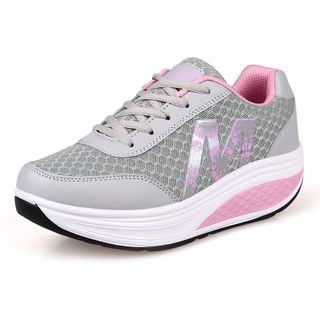 MI Ka shook 2015 winter season shoes women shoes with breathable mesh surface increased platform wedges women's shoes shoes women
