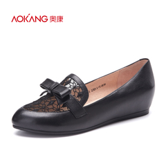 Aokang shoes 2016 new light low cut shoes fashion mosaic high shoes in women's shoes authentic bag-mail
