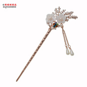 Email the Korean version of the brightly glowing lights bedeck hairpin classical hairpin BU Yao tassel headdress National Pearl hair sticks children