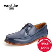West fall 2015 new business-casual leather shoes soft comfortable low head-tie men's shoes shoes