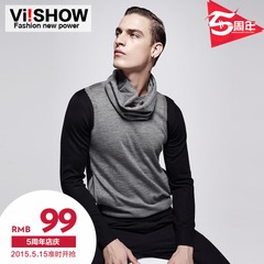 Viishow2015 boom spring sweater pullover men t slim young men''s long sleeve sweater