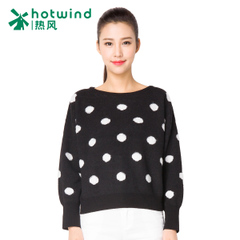 Hot spring and autumn Lady wave point sweet sweater Turtleneck knit sweater Japanese loose sweater 08H5900