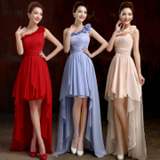 One shoulder bridesmaid dress evening dress cocktail party before the new 2015 after short toasting long bridesmaid dress spring/summer clothing