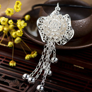 Thai Silver 925 Silver wild flower tassel pendant, fashion pendant Lady leisure boom