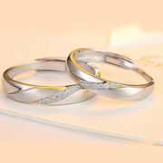 Valentine''s day gifts for your splendid couple ring 925 sterling silver zircon Korean version of the ring opening gift romantic