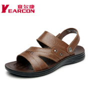 YEARCON/con men's sandals in summer 2015 new leather casual dual-use breathable shoes trendy man shoes