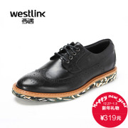 Westlink/West fall 2015 new yinglunbuluoke men's leather strap Camo casual shoes
