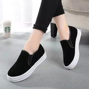 2015 Korean autumn new Lok Fu shoes casual shoes, round-headed a pedal lazy shoes platform heels shoes wave