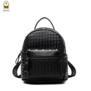 Amoy fashion Korean version of the new Backpack woman-fall 2015 rivet PU woven Mini Satchel bags women bags