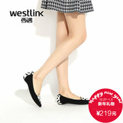 2015 West spring and autumn increased Korean metal stitching leather shoes with pointy shoes flats SZ