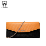 Wan Lima 2015 spring/summer women's hand bags solid color horizontal leather cell phone bag clutch bag hand bag change bag