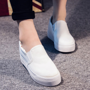 Solid color low platform adding Gao Lefu lazy shoes shoes spring/summer 2015 new foot pedal sneakers women