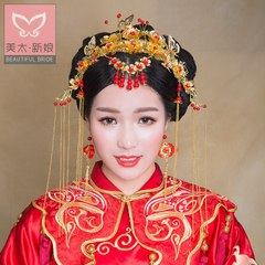Beauty too bridal show Wo headdress set 2015 new rattles longfeng coat in period costume accessories four suit A1362