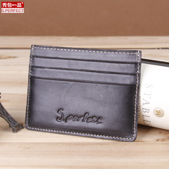 Show a leather goods for 2015 new card the card brand men's and women's suede leather business card bag authentic