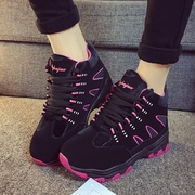 New 2015 casual running shoes winter women's nubuck sneakers platform skid student band and cotton-padded shoes