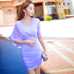 Summer dress big pink dress dolls 2015 summer styles dresses fashion solid color short sleeve dress