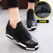 Increased within the 2015 winter season thick-soled platform shoes laced Nubuck shoes casual shoes women students shoes wave