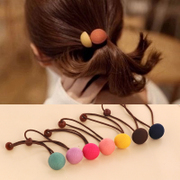 Know Connie hair Korea solid color button hair bands string Korean flower hair band hair rope end head accessories