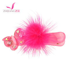 Children of the river side clamp feather Korea cute bangs clip Korean rhinestones jewelry pin children hair ACC
