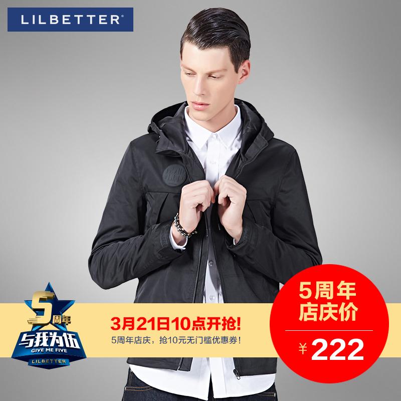 Lilbetter男士连帽夹克 春装新款潮牌外套原创品牌男装时尚外套男