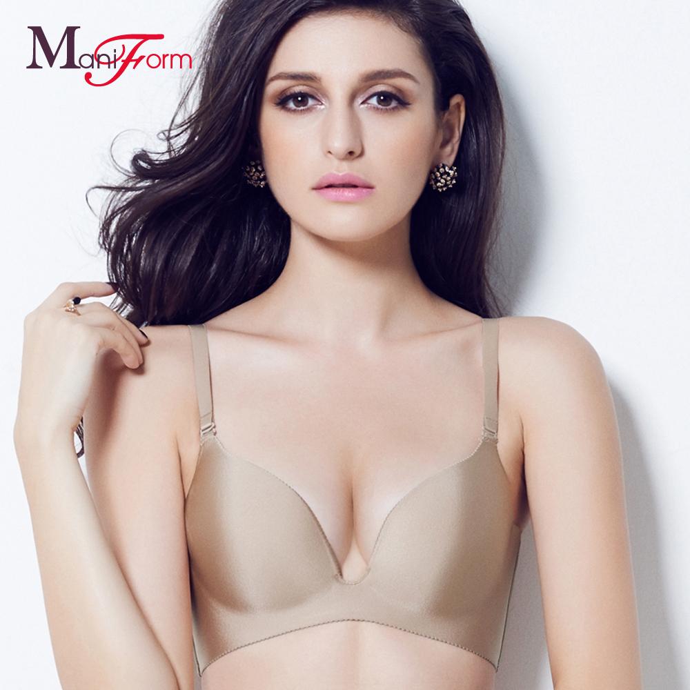 曼妮芬性感舒适内衣光面无痕胸罩收副乳调整型女士上薄下厚ag视讯带人上岸 首页