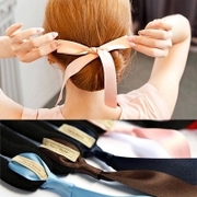 Know pro ball head of hair cloth Ribbon flower bud ring head Pan hairdressing tools tiara hair accessories