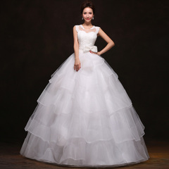 Purple Fairy wedding dresses new 2015 Korean sweet one shoulder lace Princess Bride Qi pettiskirt