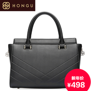 Honggu red Valley women for 2015 new European fashion for fall/winter thread v-portable shoulder bag new 7924